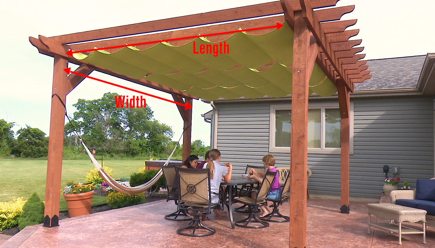 Wire Hung Canopy Calculator By Sailrite